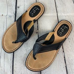 Born concepts leather flip flops